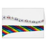 Colourful piano keyboard