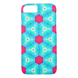 Colourful pink and blue design iPhone 8/7 case