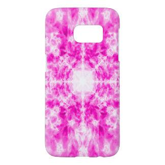 Colourful pink kaleidoscope pattern
