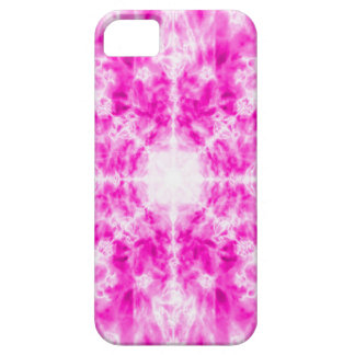 Colourful pink kaleidoscope pattern case for the iPhone 5