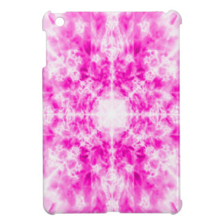 Colourful pink kaleidoscope pattern cover for the iPad mini