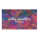 Colourful Pink Multicolored Geometric Business Pack Of Standard Business Cards