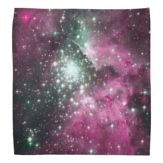Colourful Pink & Purple Galaxy Trendy Nebula Bandana