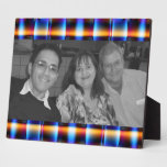 colourful plaid pattern photoframe plaque
