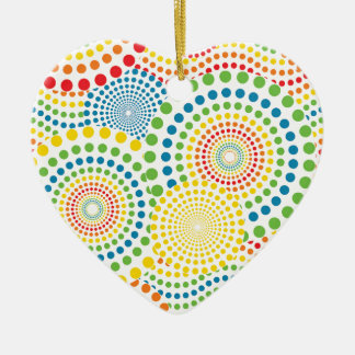 Colourful pointillism pattern christmas ornament