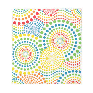 Colourful pointillism pattern notepad