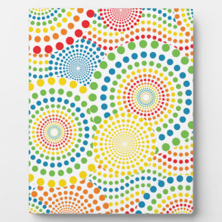 Colourful pointillism pattern plaque