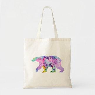 Colourful Polar Bear Tote Bag