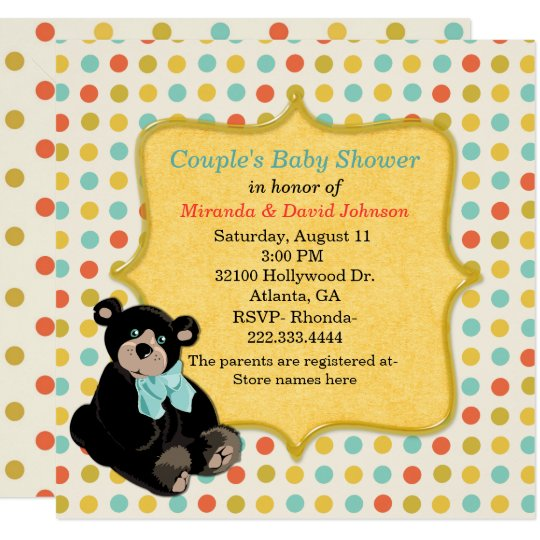Colourful Polka Dot Neutral Baby Shower Invitation