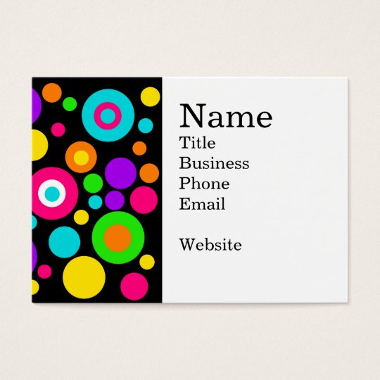 Colourful Polka Dot Pattern Business Card