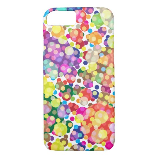Colourful Polka Dot Pattern iPhone 8/7 Case