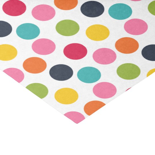 Colourful polka dot pattern tissue paper