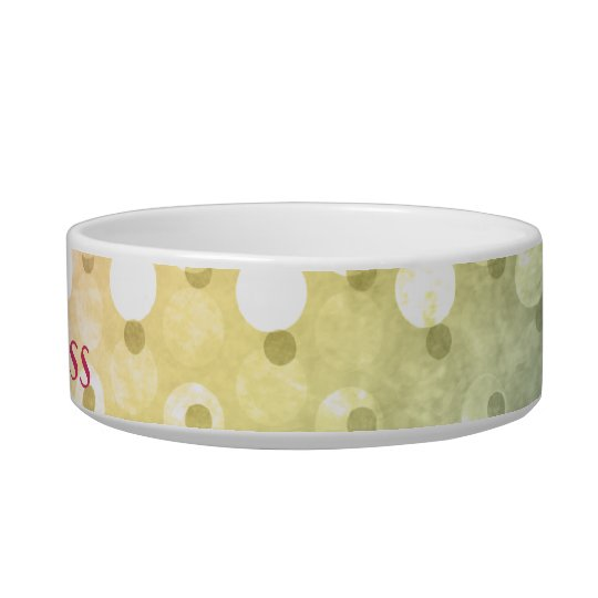 Colourful Polka Dot Personalised Cat Bowl