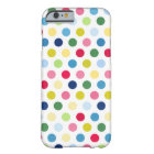 Colourful polka dots barely there iPhone 6 case