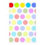 Colourful Polka Dots Custom Stationery