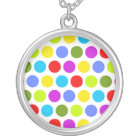 Colourful Polka Dots Silver Plated Necklace