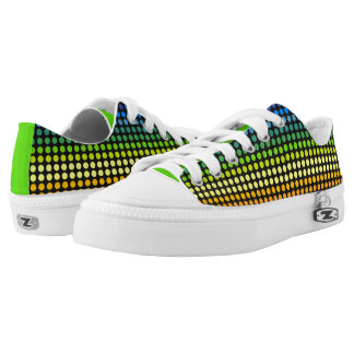 Colourful Polkadots Rainbow2 Low Tops