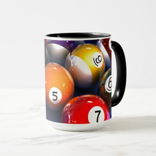 Colourful Pool Lover Billiard Balls Mug