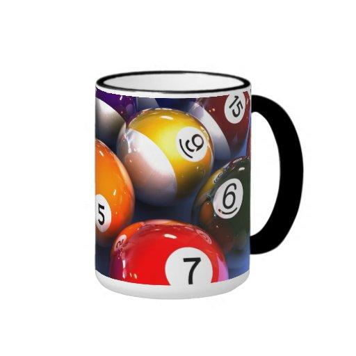 Colourful Pool Lover Billiard Balls Mug