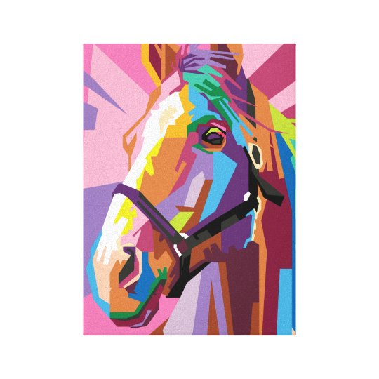 Colourful Pop Art Horse Portrait Canvas Print
