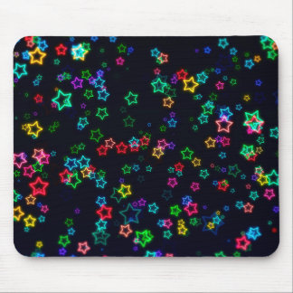 Colourful Pop Neon Star Mouse Mat