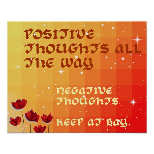 Colourful Positive Thoughts Inspire Poster