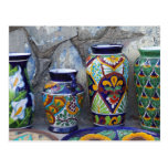Colourful pottery for sale in downtown Loreto, Postcard