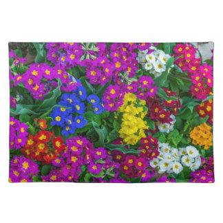 Colourful primroses placemat