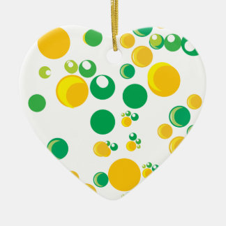 colourful print christmas tree ornament