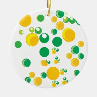 colourful print round ceramic decoration