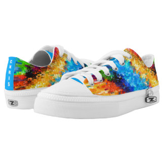 Colourful Psychedelic Abstract (Cust.) Printed Shoes