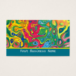 Colourful Psychedelic  Business Card