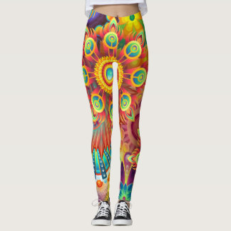 Colourful & Psychedelic Flowers Leggings