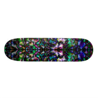 Colourful psychedelic kaleidoscope 21.6 cm skateboard deck