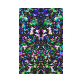 Colourful psychedelic kaleidoscope canvas print