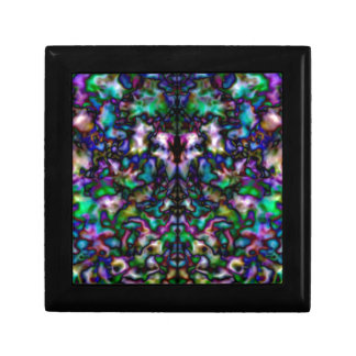 Colourful psychedelic kaleidoscope pattern gift box