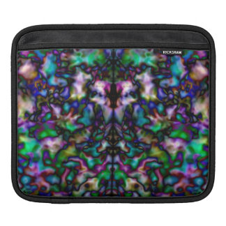 Colourful psychedelic kaleidoscope pattern iPad sleeve