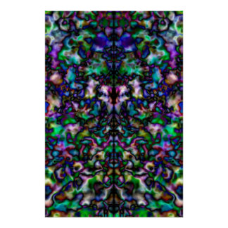 Colourful psychedelic kaleidoscope poster