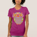 Colourful Psychedelic Owl Shirt