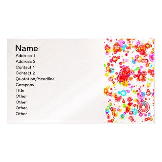 Colourful Puddle Raindrops digital art random Business Cards