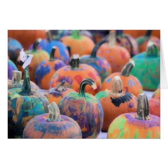 Colourful Pumpkins Photography Halloween Card