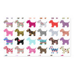 Colourful Puppy Dog Chevron Zigzag Floral  Pattern Pack Of Standard Business Cards
