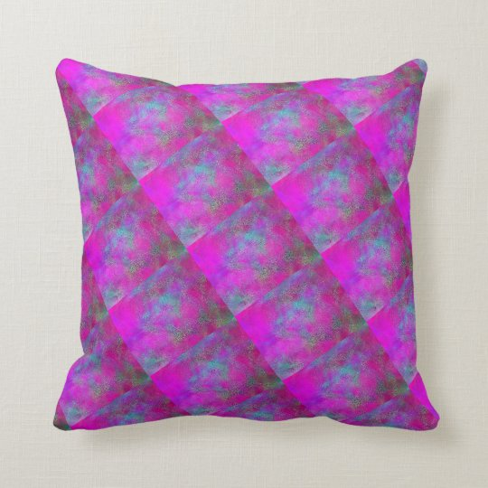 Colourful Purple blue green Throw Cushion 41x41 cm