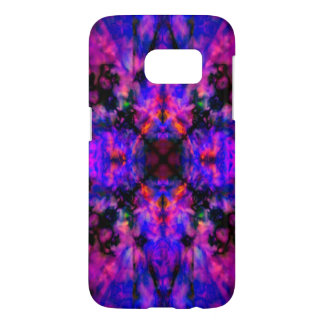 Colourful purple kaleidoscope pattern