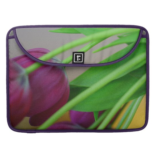 Colourful purple tulips sleeve for MacBook pro