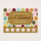 Colourful Quatrefoil - Salon Loyalty Rewards Card