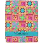 Colourful Quilt Patchwork Block Name Personalised iPad Cover