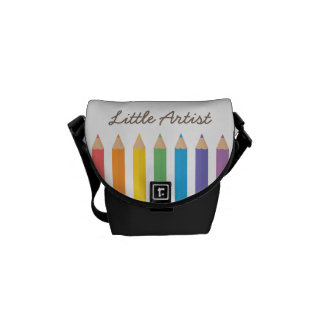 Colourful Rainbow Colouring Pencils School Kids Commuter Bags