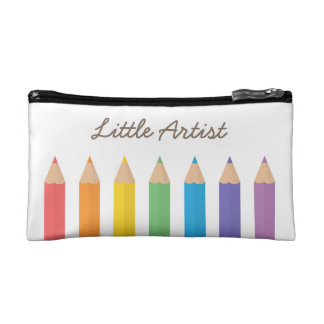 Colourful Rainbow Colouring Pencils School Kids Cosmetic Bag