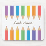Colourful Rainbow Colouring Pencils School Kids Mouse Pad